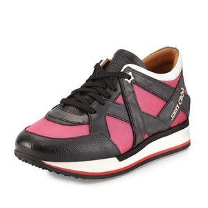 Jimmy Choo Pink/Black Sneakers Size 10
